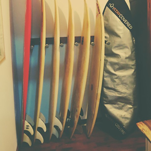 2) Vertical PVC Pipe Surfboard Rack